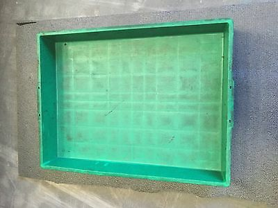 Green plastic storage trays - total of 40