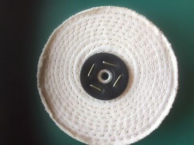 "4"" x 2"" white stitch polishing mop for alloy, metals etc."