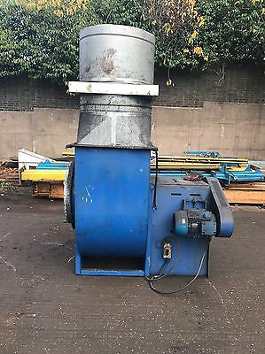 Centrifugal industrial duct extractor fan, blower