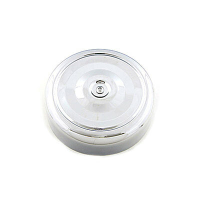 """V-Twin Chrome 7"""" Round Ripple Air Cleaner Cover for Harley Motorcycle Customs"""