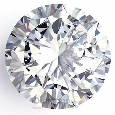 6.53 mm Off white 0.92 ct I2 real round brilliant  loose moissanite = DIAMOND
