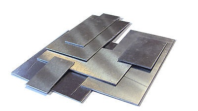 "Small Aluminum Flat Sheet Metal Pieces, many sizes, 0.05"" thick"