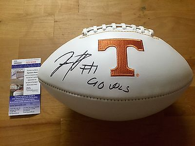 Jalen Hurd Signed Tennessee Volunteers Football Go Vols! JSA Coa