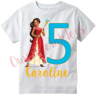 Elena of Avalor PERSONALIZE Custom T-shirt, Youth and Adult sizes Available