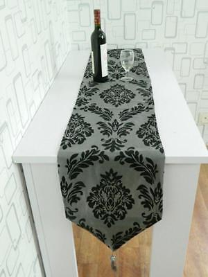 Table Runner Home Wedding Party Banquet Decoration Flocked Damasks Cloth