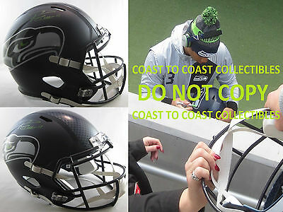 Russell Wilson,seattle Seahawks,signed,autographed,full Size Helmet,coa,proof