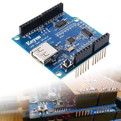 New Blue USB HOST ADK Shield Module Pour Arduino Android V2.0 UNO MEGA2560 TE137