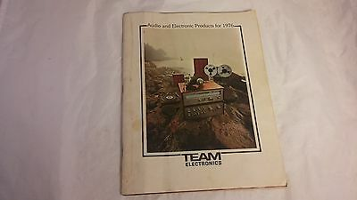 TEAM ELECTRONICS Audio Products for 1976 Receiver Specifications CB's Reel