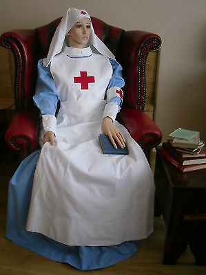 WW1 NURSE UNIFORM reproduction RED CROSS NURSE V.A.D  COMPLETE COSTUME all sizes