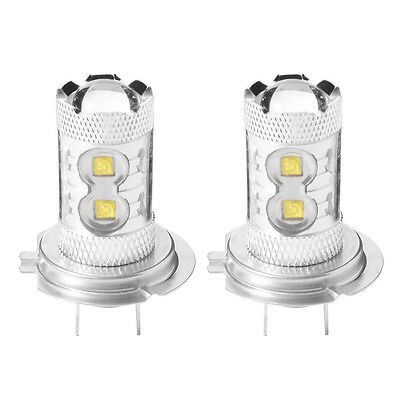 2x H7 6000K 50W LED 10 SMD Cree Antibrouillard DRL Phare Voiture Ampoules MA523