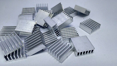 25xExtruded Aluminum heatsink 14x14x6mm , Chip CPU GPU VGA RAM LED IC radiator,