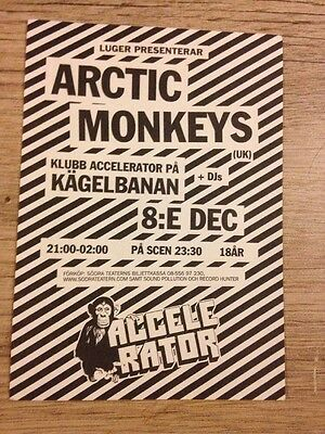 Arctic Monkeys - Rare flyer For Concert In Sweden - Dec 2005 (Stockholm)
