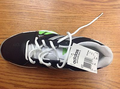 Adidas Barricade Team 3 Tennis Shoes NEW! Size 9 Black and Green and white Trim