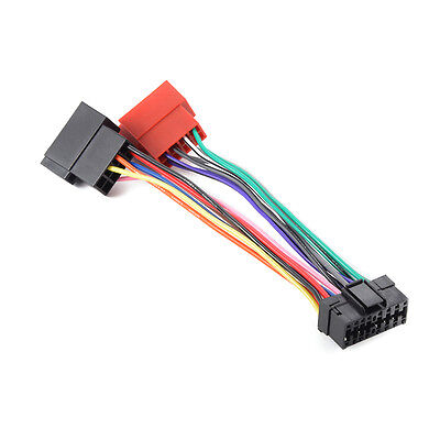 16 PIN ISO Wiring Harness for Sony MD XR CDX Car Radio Connector Adapter MA716