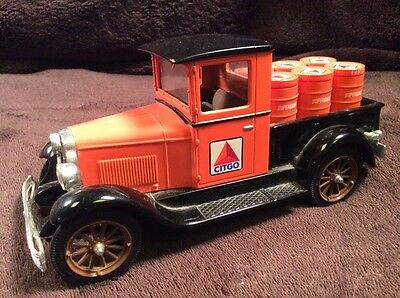 CITGO 1928 Chevrolet National Pickup Truck Oil Drum Load Coin Bank