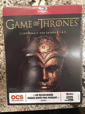 Game Of Thrones The Complete Seasons 1-5 Blu-Ray Box Set Region Free New Sealed
