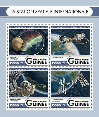 Z08 GU16520a GUINEA Rep. (Guinee) 2016 International space station MNH