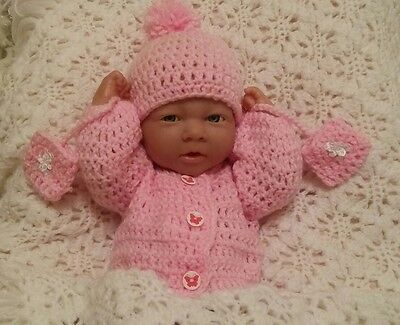 "Hand made  clothes set for 14"" la new born cup cake berenguer reborn baby dolls"