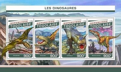 Z08 IMPERFORATED TG16507a TOGO 2016 Dinosaurs MNH