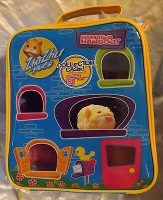 New Zhu Zhu Pets Hamster Hangout Collector Carry Case & Stickers Holds 9 NWT