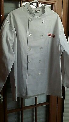 Chef Coat Men's Size XL White Lot Of 2 Long Sleeve The Cheesecake Factory
