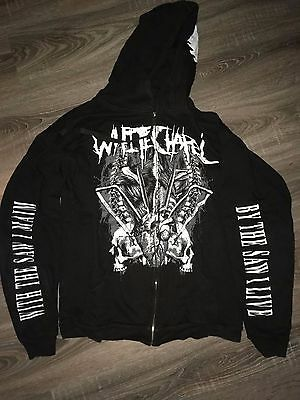 Whitechapel RARE Zip Hoodie L Ingested Carnifex Devourment Suicide SIlence
