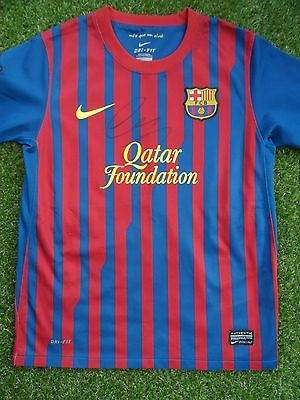 ALEXIS SANCHEZ Hand Signed Barcelona Home Football Shirt - Chile Autograph COA