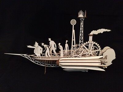 Laser Cut Wooden Jules Vern Sky Sailer - Steampunk -  Model/Puzzle Kit