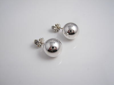 Tiffany & Co Sterling Silver 10 MM Ball Bead Round Earrings Studs
