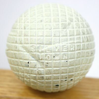 Antique Silver Town Golf Ball Mesh Patterned Gutty Vintage Scarce White