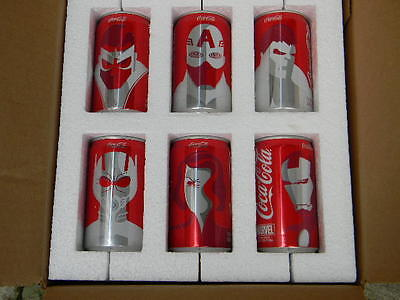 2016 limited collector six back A Marvel hero original cans USA only .