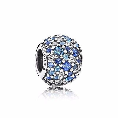 Authentic Genuine Pandora Sterling Silver Sky Mosaic Pave Charm 791261NSBMX
