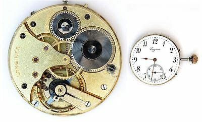 LONGINES 19.74N  original vintage watch movement  working  (4799)