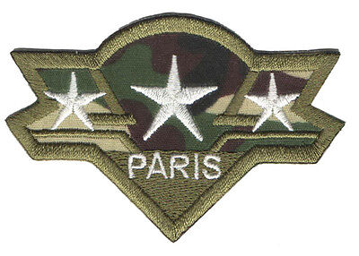 PARCHE bordado en tela MILITAR/AIRSOFT CAPITAN PARIS EMBROIDERED PATCH