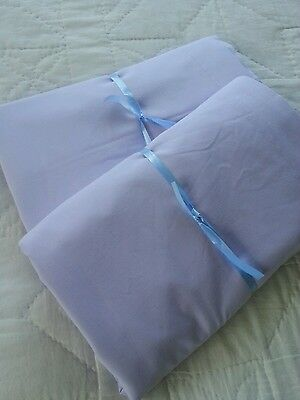 Dorma quality lilac double flat sheet (2 available )