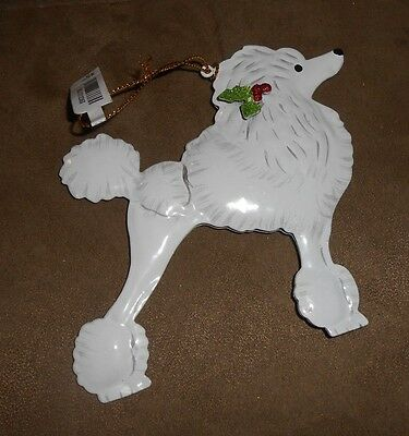 Pier 1 Metal Poodle Holiday Christmas Ornament - Brand NEW w/Tag