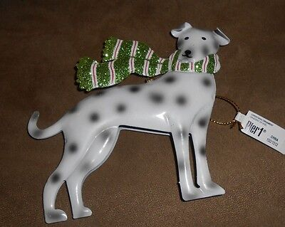 Pier 1 Metal Dalmatian Holiday Christmas Ornament - Brand NEW w/Tag