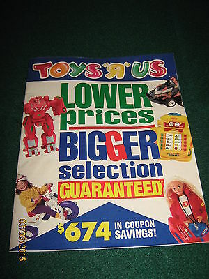 """Toys R Us  """"LOWER PRICES"""" TOY BOOK  11-04-1995 (56 Pages) Pre - XMAS"""