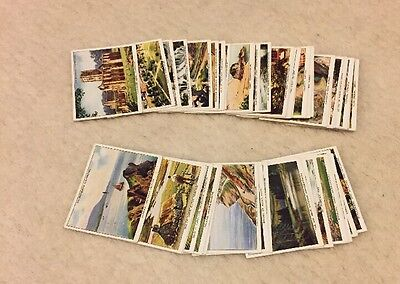 WA & AC Churchman - Holidays In Britain - Cigarette Cards - Full Set of 48