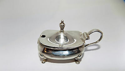 Victorian Silver Plated Footed Mustard Pot