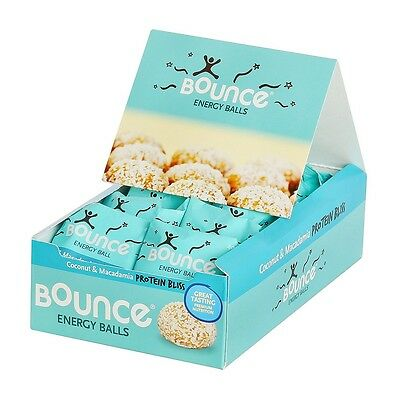 BOUNCE NATURAL ENERGY BALLS - COCONUT AND MACADAMIA PROTEIN BLISS 12x42g