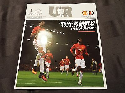 MANCHESTER UNITED V Feyenoord PROGRAMME 24/11/2016 MINT CONDITION Europa League