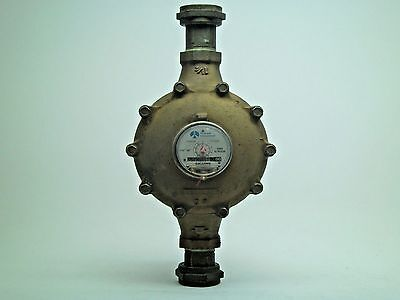 "Vintage 1-1/2"" Flow Rockwell Brass Water Gallons Meter Gauge FREE SHIPPING! KB"