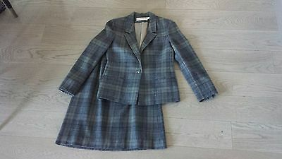 Women's Vintage Young PENDLETON 100% Virgin Wool Plaid Suit Jacket & Skirt Sz 6