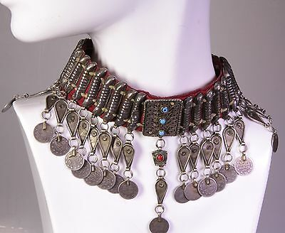 Altes orientalisches Kuchi Tribal Necklace, Silber (S 773)