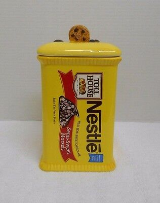 Nestle Toll House Semi-Sweet Morsels Ceramic Cookie Jar with Orig. Recipe (A17)