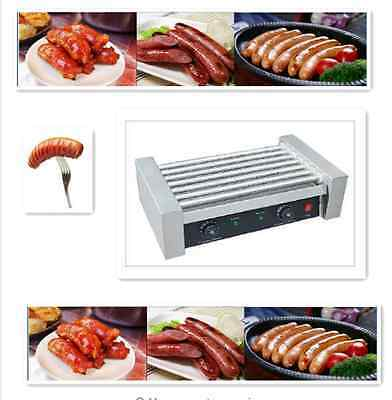 Commercial Electric Sausage Hot Dog Roller Grill Ham Sausage Machine 7 Roll