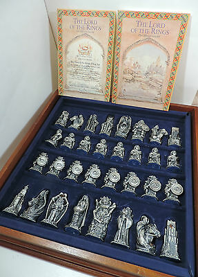 Danbury Lord of the Rings Chess Set 1993 with Leaflets