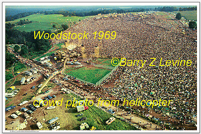 CELEBRATE WOODSTOCK 50th - Woodstock 1969 Crowd Aerial Poster; © Barry Z Levine