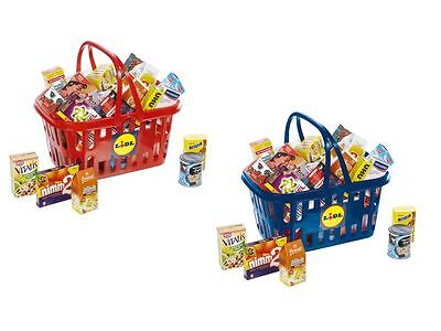 Toy Lidl Shopping Basket Kids Role Play Toy With Pretend Play Groceries Food